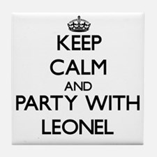 Keep Calm and Party with Leonel Tile Coaster