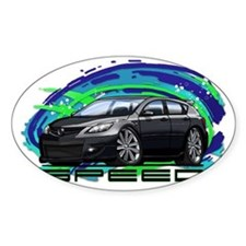 07-09 Speed3_Black Bumper Stickers