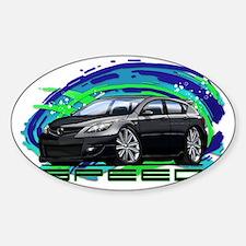 07-09 Speed3_Black Sticker (Oval)