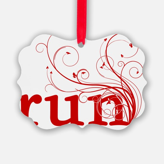 run_swirl_red Ornament