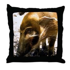 (2) Pig Profile  1966 Throw Pillow