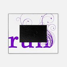 run_swirl_purple Picture Frame