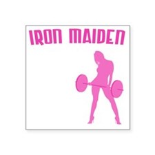 "iron-maiden Square Sticker 3"" x 3"""