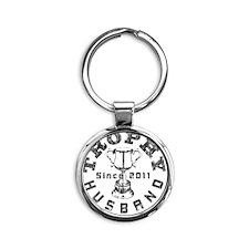 Trophy Husband 2011 Gray Round Keychain