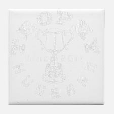 Trophy Husband 2011 black Tile Coaster