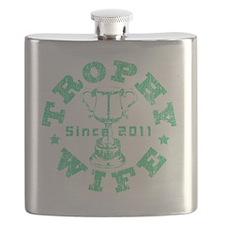 Trophy Wife 2011 green Flask
