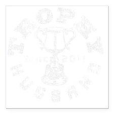 "Trophy Husband 2011 blac Square Car Magnet 3"" x 3"""