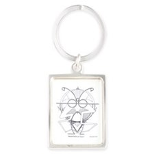 Ascended Master Lao Tzsung Portrait Keychain