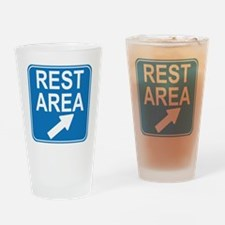 blue_rest_area_sign1_real Drinking Glass
