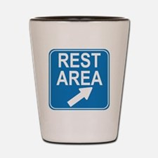 blue_rest_area_sign1_real Shot Glass