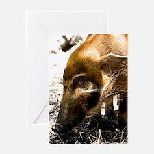 (10) Pig Profile  1966 Greeting Card