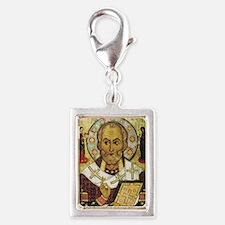 St Nicholas Silver Portrait Charm