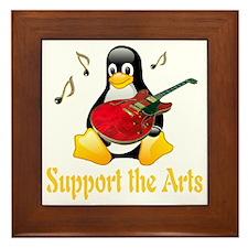 penguin_support_the_arts_transparent Framed Tile