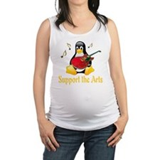 penguin_support_the_arts_transp Maternity Tank Top