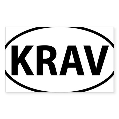 KRAV Sticker (Rectangle)
