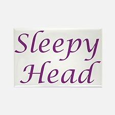 sleepyhead Rectangle Magnet