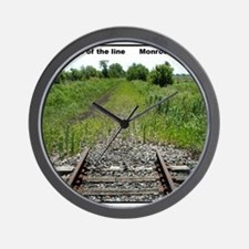 RR-End of the Line mousepad Wall Clock