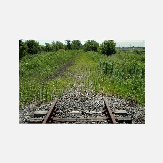 RR-End of the Line mousepad Rectangle Magnet
