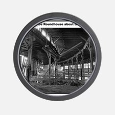RR-Roundhouse torn - mousepad Wall Clock