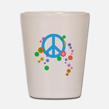 peace08-blk Shot Glass