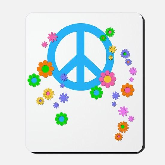 peace08-blk Mousepad