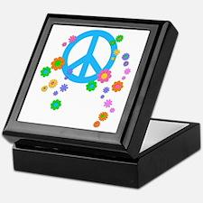peace08-blk Keepsake Box