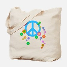 peace08-blk Tote Bag