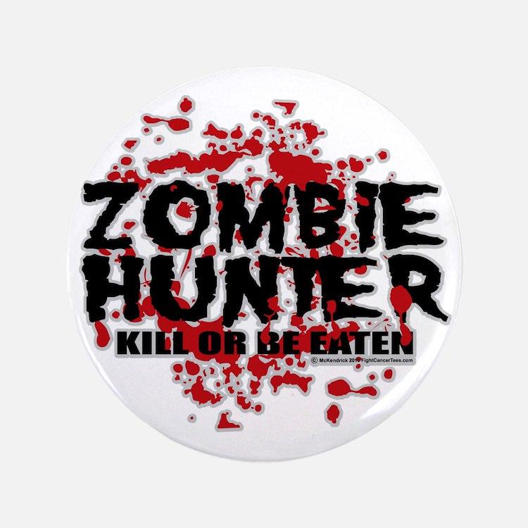 "Zombie-Hunter 3.5"" Button"
