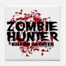 Zombie-Hunter Tile Coaster