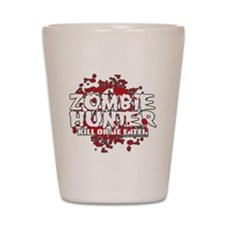 Zombie-Hunter-blk Shot Glass