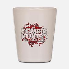 Zombie-Hunter-blk Shot Glass