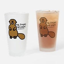 real foodies eat beaver copy Drinking Glass