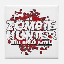 Zombie-Hunter-blk Tile Coaster