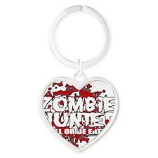 Zombie-Hunter-blk Heart Keychain