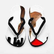 I Love My Doberman Flip Flops