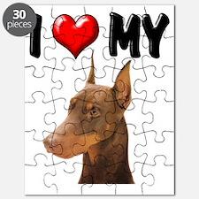 I Love My Doberman Puzzle