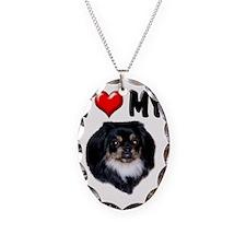 I Love My Pekingnese Black Necklace