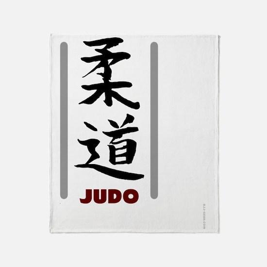 Judo teeshirts - Judo in Japanese Throw Blanket