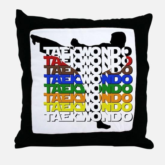 ColorsOfTKD Throw Pillow