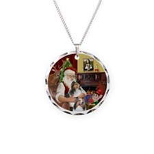 R2-Santa - 2 Shelties (DL) - Necklace