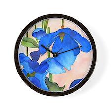 Blue Poppies ipad Wall Clock