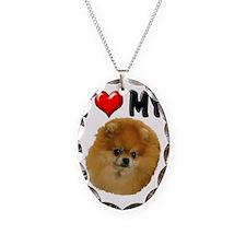I Love My Pomeranian Necklace