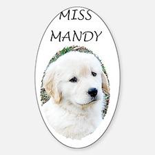 Golden Retriever Puppy 3G iPhone Ha Sticker (Oval)