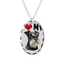 I Love My Miniature Schnauzer Necklace
