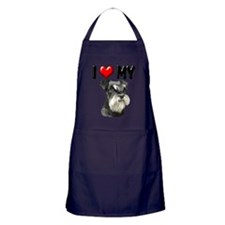 I Love My Miniature Schnauzer Apron (dark)
