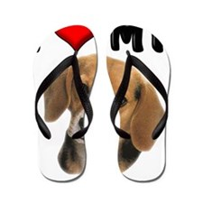 I Love My Beagle Flip Flops