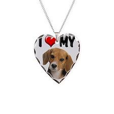 I Love My Beagle Necklace