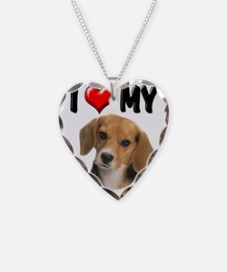 I Love My Beagle Necklace