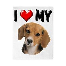 I Love My Beagle Twin Duvet