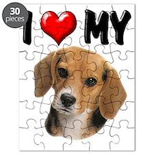 I Love My Beagle Puzzle